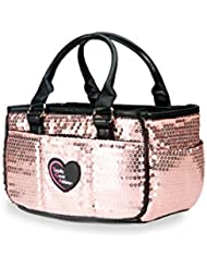 Peach Sequin Ice Skating Bag Tennis Gym and Ballet Girls Athletic Bag