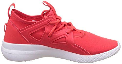 De Para Reebok Interior Zapatillas Rojo Cardio Red dayglow Motion White Mujer Deporte SYYx61w