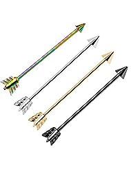 "Lot of 4 Pieces Industrial Barbells Arrow 14 Gauge Cartilage Earrings 1.5"" Inch"