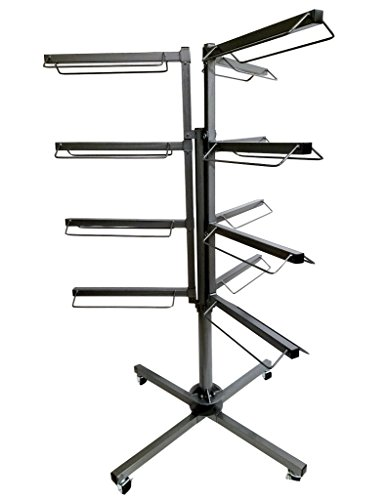 Equiracks Saddle Rack Revolving Heavy Duty 12 Arm Steel Gray RSR-12 by Equi-Racks