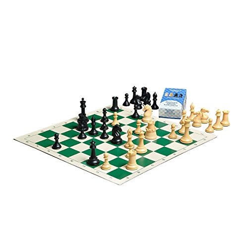 Staunton 3 3/4' King - Unicorn & Fortress Chess Kit with The Collector Plastic Chess Set - Pieces Only - 3.75