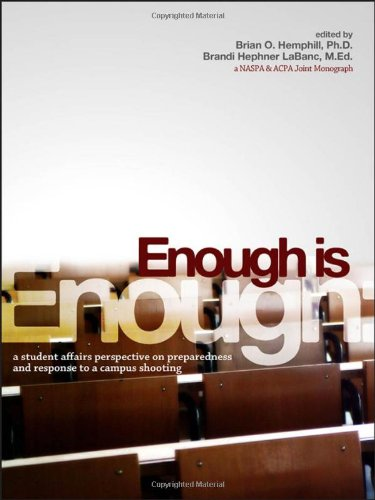 Enough Is Enough: A Student Affairs Perspective on Preparedness and Response to a Campus Shooting (An ACPA / NASPA Joint Publication)