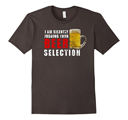 Mens Judging Your Beer T-shirt Funny Beer Lover Gift Shirt Large Asphalt