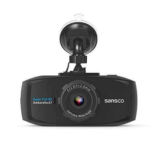 SANSCO 2K Extreme HD Pro 1296P Car Dash Camera, 2.7-Inch Screen In-Car Dashboard Cam with Collision Detection And Emergency Recording - Resolution Increased by 50% Compared with 1080p