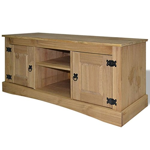 Rectagnle TV Cabinet Mexican Pine Corona Range Brown Entertainment Centers with Size:47.2
