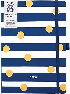Agenda 2020 un día por página Busy B - planificador A5 a rayas con notas
