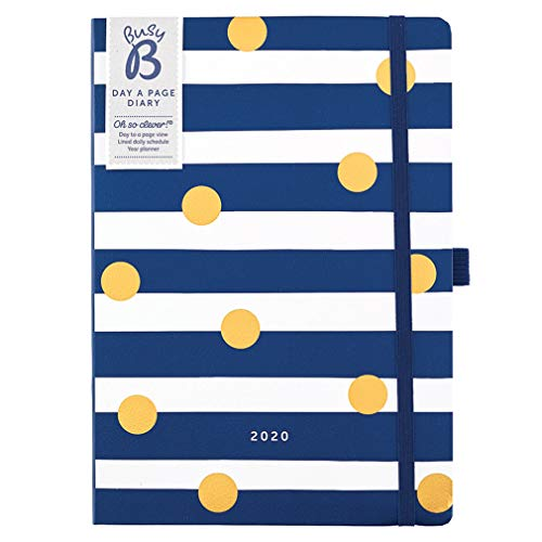 Busy B Stripe 2020 Day A Page Diary - A5 Planner with Notes