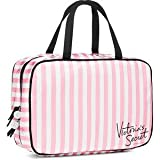 VICTORIA SECRET LIMITED EDITION HUGE HANGING COSMETIC STRIPE TRAVEL CASE