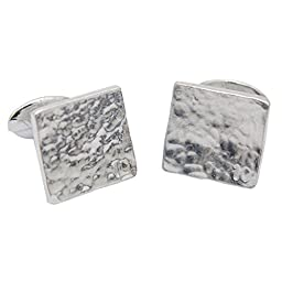Traditional 10th Wedding Anniversary Gift - Pure Tin Cufflinks with Small 10