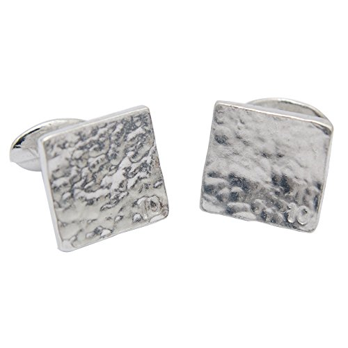 Traditional 10th Wedding Anniversary Gift - Pure Tin Cufflinks with Small 10 (Anniversary Gifts Men For Tin)