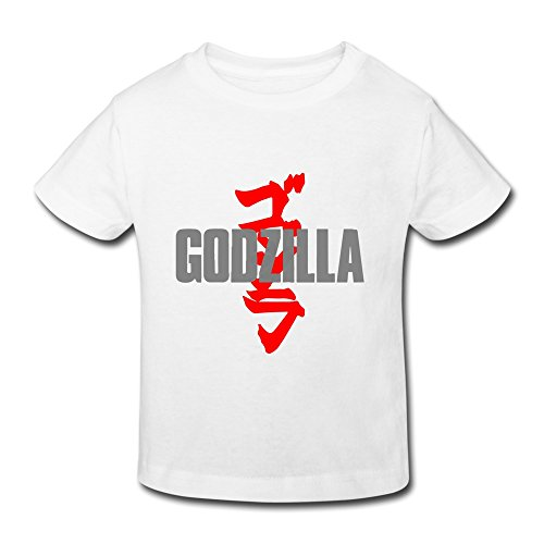[AOPO Godzilla Tee Shirts For Toddlers Unisex (2-6 Years) 5-6 Toddler White] (Sports Day Costume Ideas Blue)