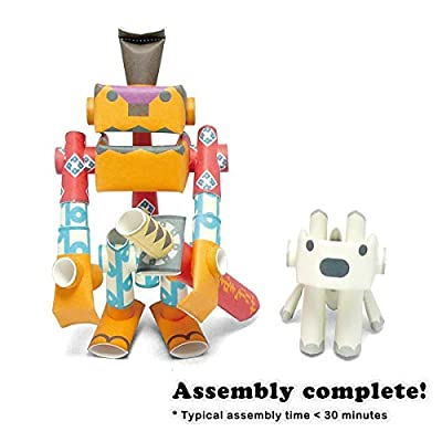 PIPEROID DIY Paper Craft Kit Rokusuke & Hachi Samurai & His Dog - Japanese Arts and Craft Kit for Kids and Adults - Birthday Gift and Party Favor for 3D Puzzle and Origami Paper Craft Enthusiasts: Takashi Tsunoda: Home & Kitc