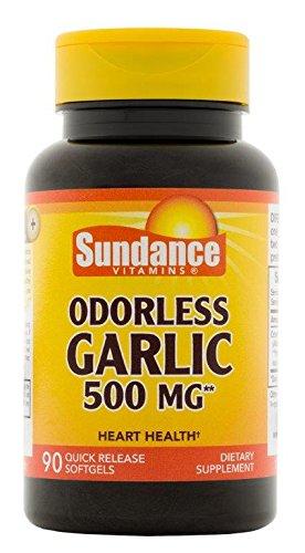 Sundance Odorless Garlic 500 mg Tablets, 90 Count ()