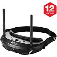 FPV Goggles 5.8GHZ Flysight Goggles 40CH Buit In Diversity Receiver with 1080 HDMI In and Front Camera Function (SPX02 RPSMA)