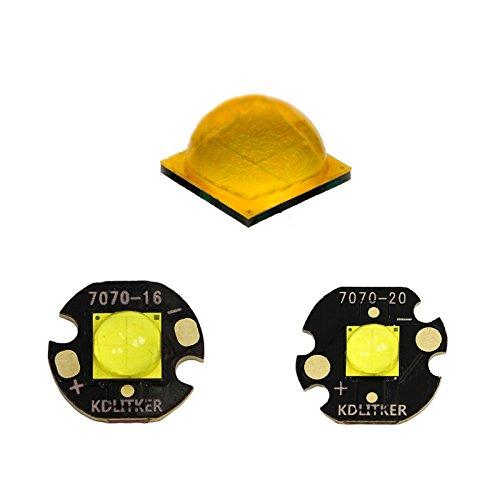 Cree XHP70.2 White 6000K/ Neutral White 5000K LED Emitter with 16mm/ 20mm x 1.5mm KDLITKER DTP Copper MCPCB (Neutral White 5000K, with 16mm Copper MCPCB)