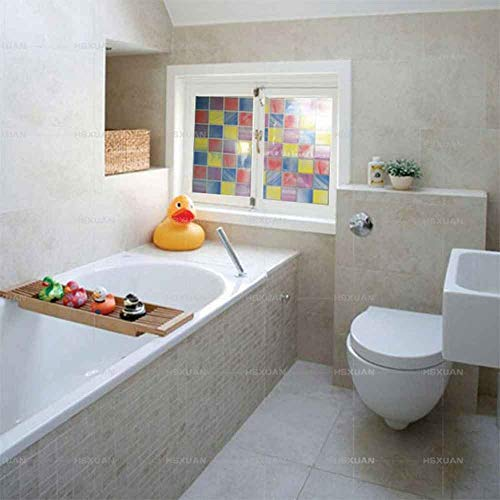 Robert Window sticker Privacy Window Film Price Painted Mosaic Self-Adhesive Glass Film Bathroom/Kitchen Stickers Waterproof Window Paper Sunshade,60400cm(23.6〃x157.4〃)