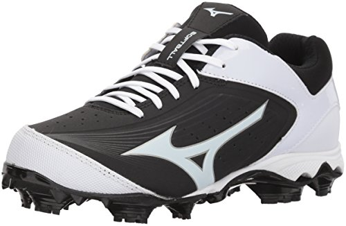 Mizuno (MIZD9) Women's 9-Spike Advanced Finch Elite 3 Fastpitch Cleat Softball Shoe, Black/White, 9.5 B US - Mizuno Womens 9 Spike