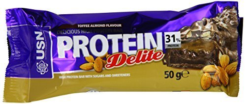USN Protein Delite Bar, Toffee Almond - 50 g by USN
