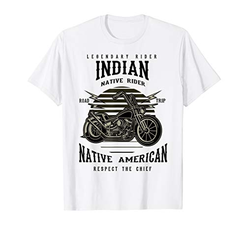 indian native rider, respect the chief motorcycle