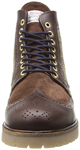 Fred Perry Mens Northgate Harris Tweed Boot Dark Chocolate 8TbodldF