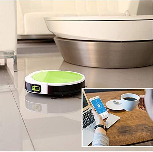 YAOLAN Aspirateurs robotiques, Robots ménagers ménagers intelligents Robot Interrupteurs interchangeables secs et humides APP pour Les travaux sur sols durs et moquettes