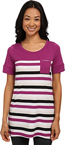 LOLE Women's Principle Tunic, Large, Passiflora Multi Stripes