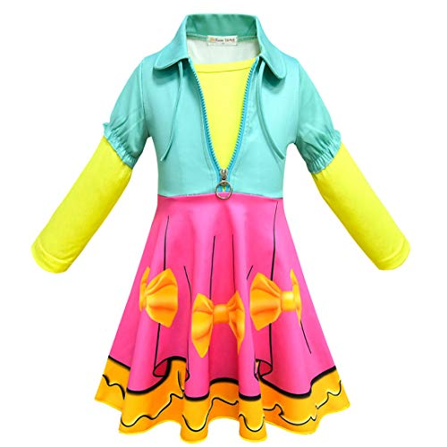 Girls Halloween Dress for L.O.L Doll Surprised.Party School Uniform Cosplay -