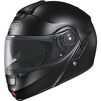 Shoei Solid Neotec Modular Motorcycle Helmet - Black/X-Large