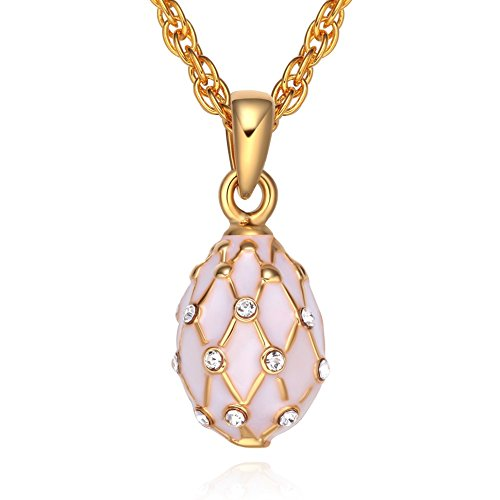 TF Charms® Mini Size Russian Royal Faberge Egg Pendant Necklace 18