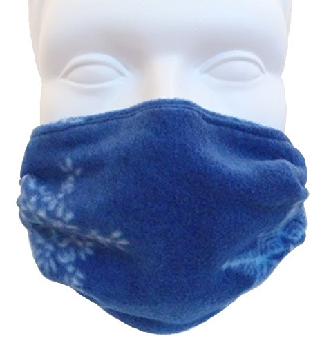 Fleece Double Layer Face Mask Snowflake (Child Size) Comfortable, Washable, Reversible Outdoor Mask by Breathe Healthy® Masks