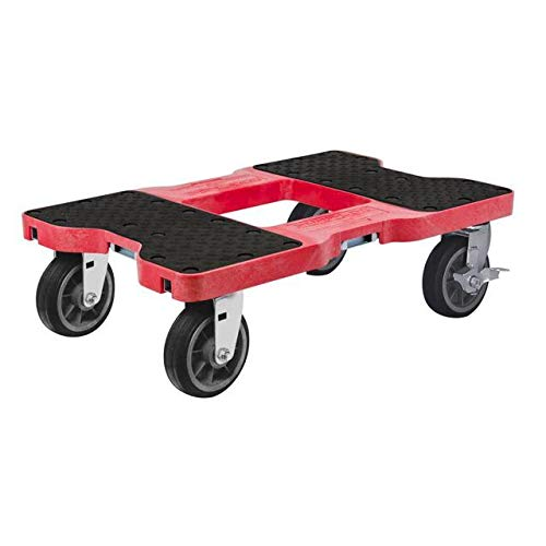 Lock Cargo Control - SNAP-LOC ALL-TERRAIN DOLLY RED (USA!) with 1500 lb Capacity, Steel Frame, 6 inch Casters and optional E-Strap Attachment