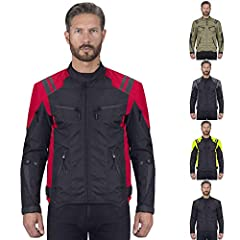 Viking Cycle Ironborn Motorcycle Jacket for Men has CE approved armor that passes the highest impact tests available. Its stylish structure comprises of removable armor on the elbows, shoulder & spine. It also includes advanced waterproof...