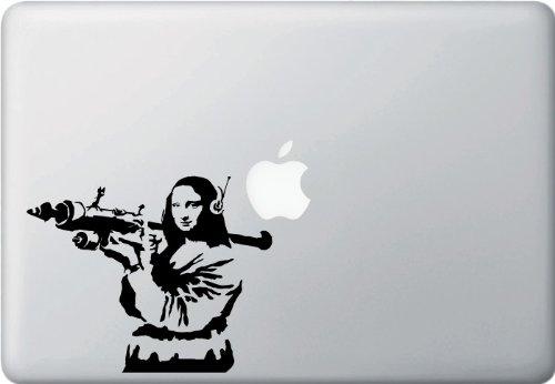 Yadda-Yadda Design Co. The Mona Lisa Bazooka - Vinyl Laptop or Macbook Decal
