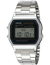 Men's A158WA-1DF Stainless Steel Digital Watch