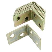 10 Pcs 25x25x16mm 90 Degree Metal Right Angle Bracket Shelf Support