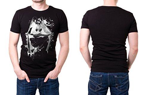 Turnen_XI schwarzes modernes Herren T-Shirt mit stylischen Aufdruck