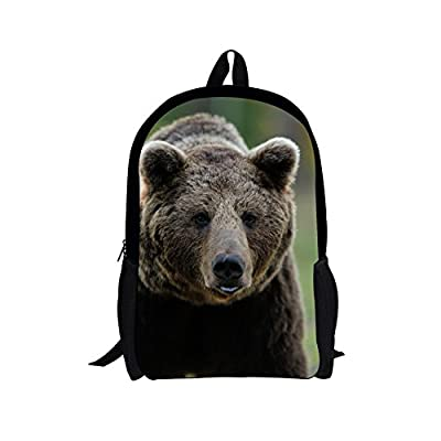high-quality Dellukee Cool Middle School Bags Stylish Personalized Children  Large Backpack Grey Bear cfe427db5c
