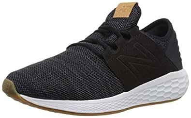 New Balance Women's Cruz V2 Fresh Foam Running Shoe, Black/White, 5 B US