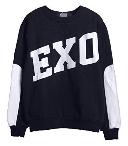 Wholesale KPOP EXO-M EXO-K Sweater Pullover Kris Luhan Kai Lay Suho Hoodies free shipping