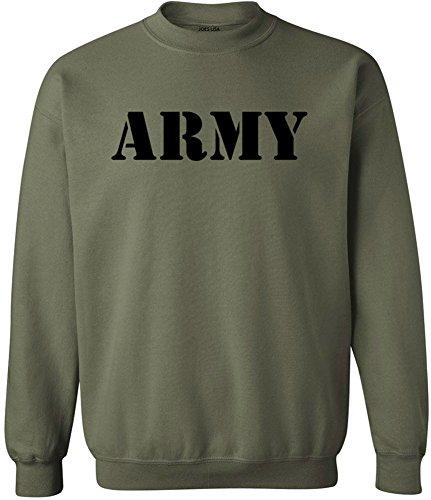 (Joe's USA(tm - ARMY Crewneck Sweatshirts - Army Green - Medium)