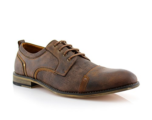 Ferro Aldo MFA19619L Trevor Men's Classic Casual Formal Elegant Lace up Oxford Dress Shoes -Brown, Size 11 by Ferro Aldo