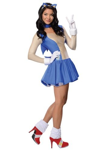 Sonic Adult Costumes (Sonic the Hedgehog Adult Costume Sonic (Blue) - Large)