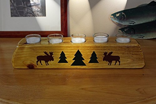 Rustic Cabin/Lodge Decor Moose River Votive Candle Holder Review