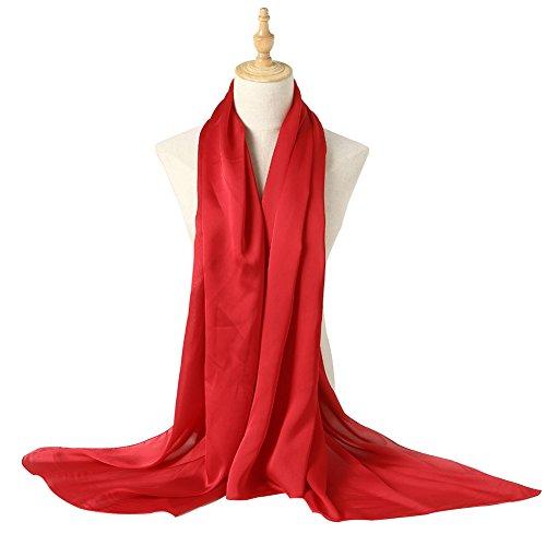 Bellonesc Silk Scarf 100% silk Long Lightweight Sunscreen Shawls for Women (purplish ()