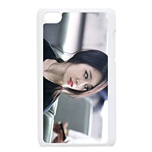 Print Korea Beautiful Woman Park Jiyeon Sexy Girl Pictures Design Hard Plastic Case PC Shell for iPod touch 4 TPU Case-2