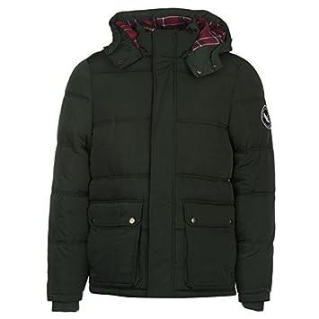 SoulCal con forro burbuja chaqueta para hombre verde chaquetas abrigos Outerwear, verde, small: Amazon.es: Deportes y aire libre