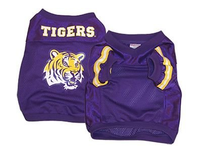 (NCAA LSU Tigers Football Dog Jersey, Medium )
