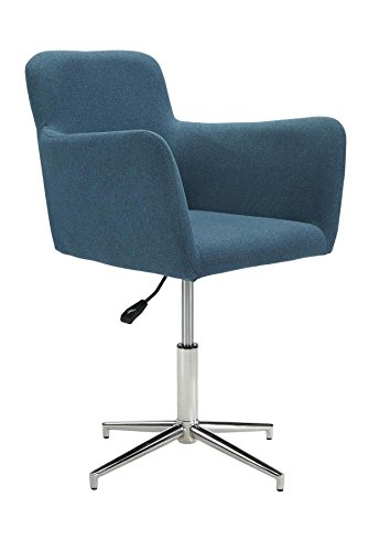 Montoya Adjustable Dining Chairs Chrome and Blue (Set of 2)