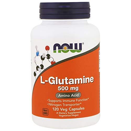 L-Glutamine 500 mg Amino Acid Free-Form 120 Veg Capsules