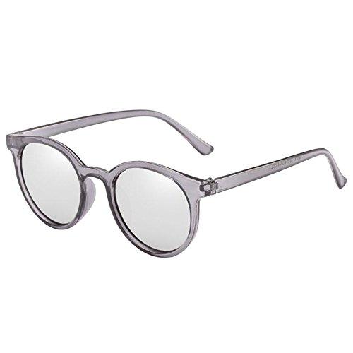 Meijunter Petite plein Polarisé de Argent Eyewear Classique protectrices UV Gris Protection Lunettes Anti Élégant Glasses Lunettes ronde lunettes UV Rétro soleil De air rpqrwv4